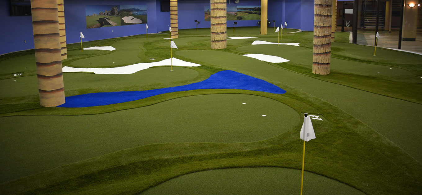 Dallas Texas Indoor Commercial Putting greens