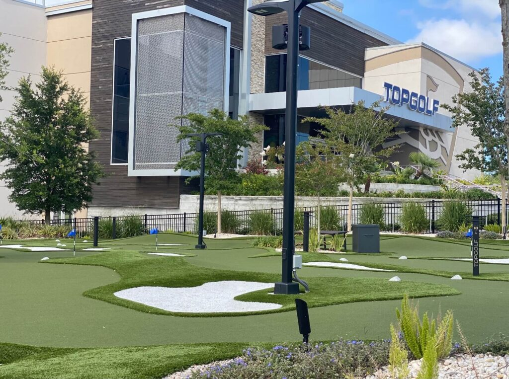 commercial artificial putting green installation