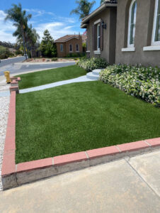 artificial lawn residential installation