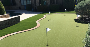 A home putting green