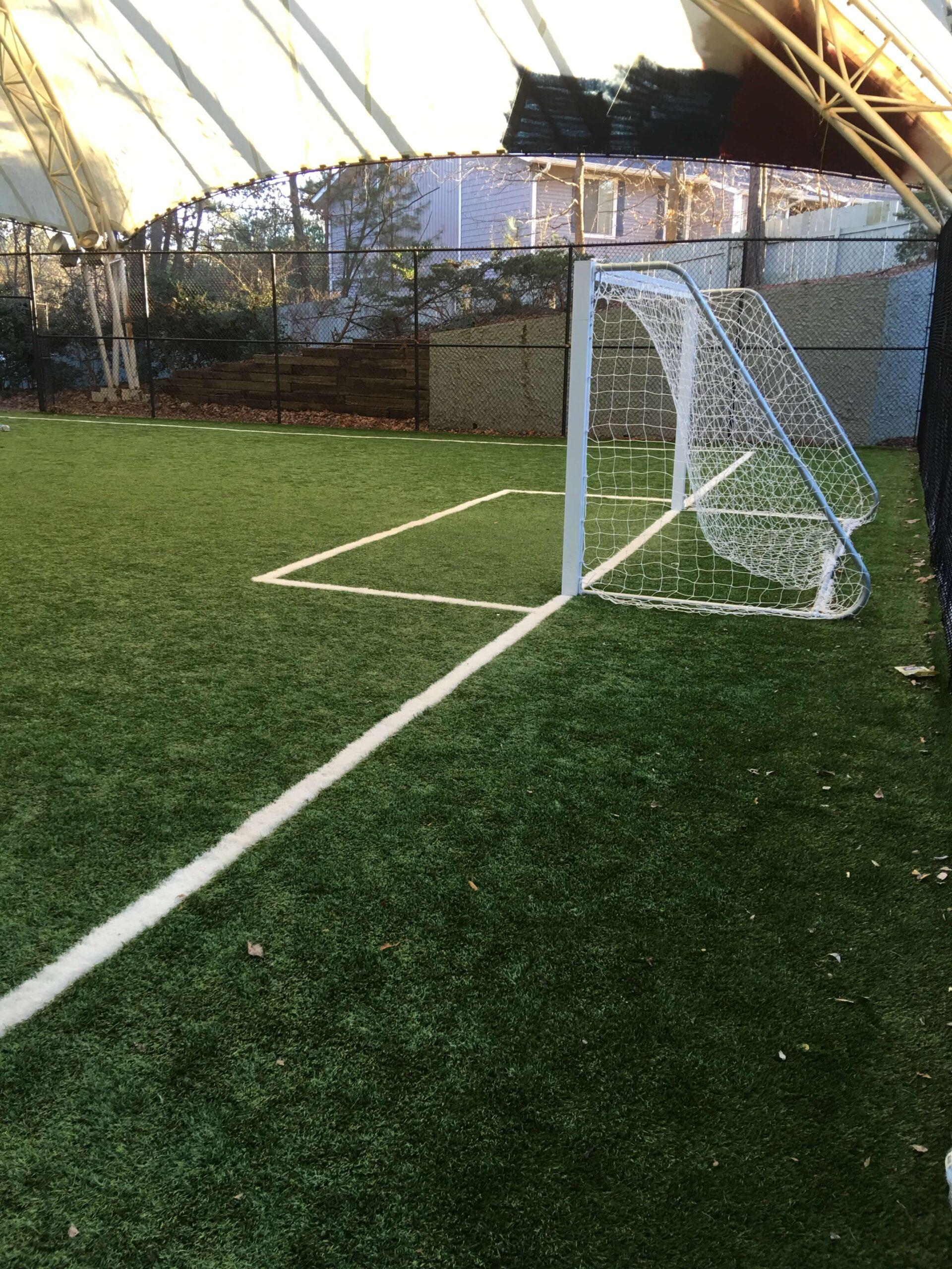 soccer field artificial turf installation
