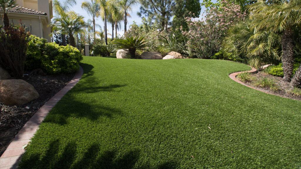 residential lawn installation
