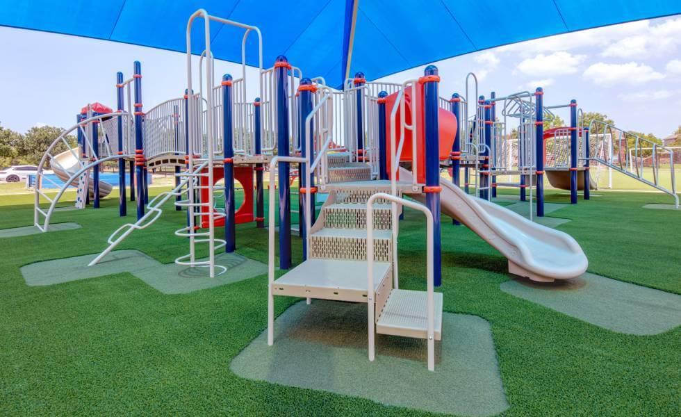 Artificial Playground turf in Frisco Independent School district playground